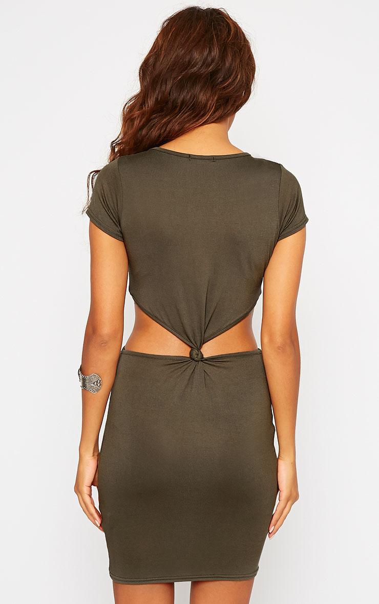 Sukie Khaki Twist Front Mini Dress 2