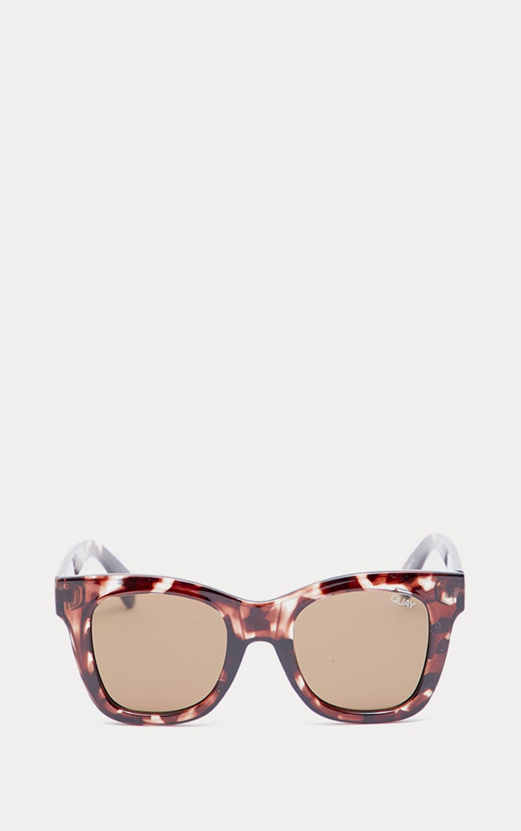 QUAY AUSTRALIA - Lunettes de soleil oversized After Hours marron 2