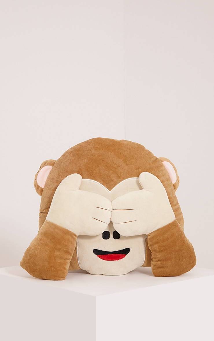 See No Evil Emoji Monkey Cushion 1