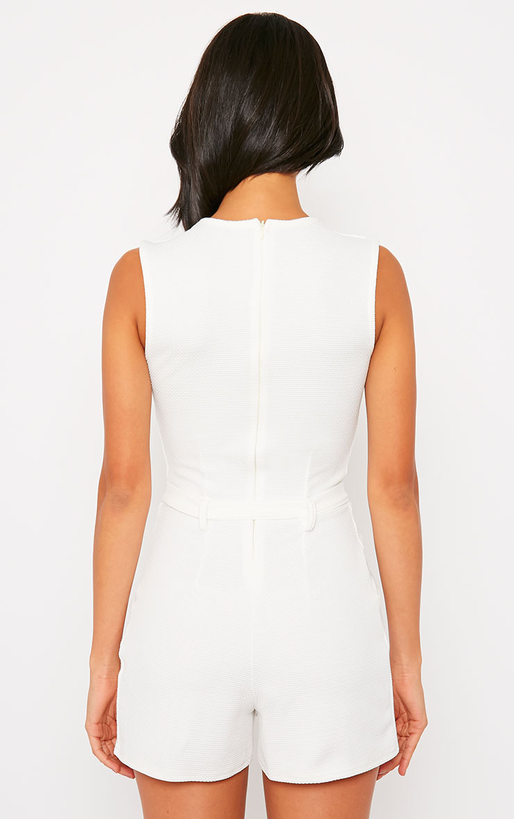 Evie Cream D-Ring Playsuit 2