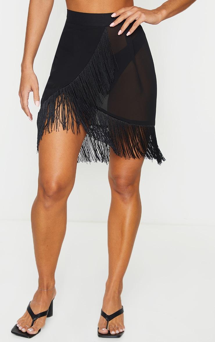 Black Tassel Beach Skirt 2