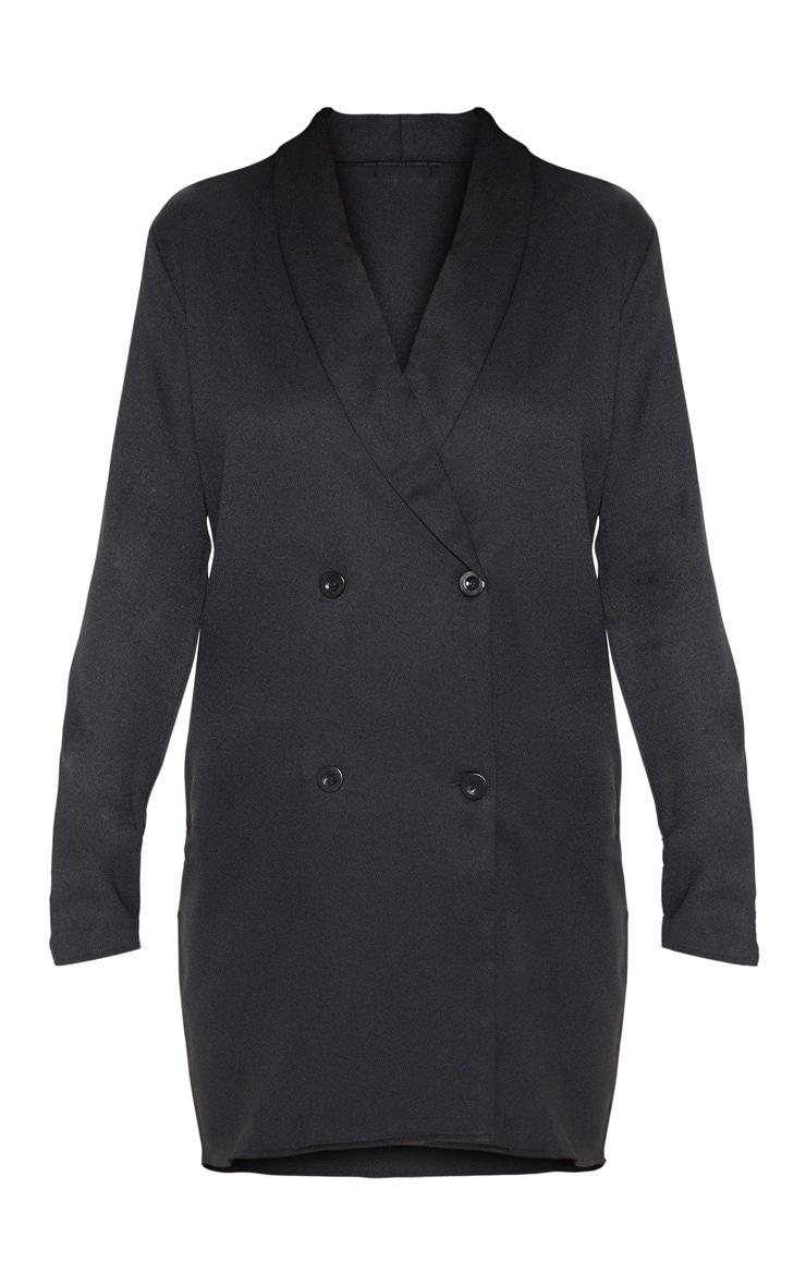 Black Oversized Blazer Shift Dress 3