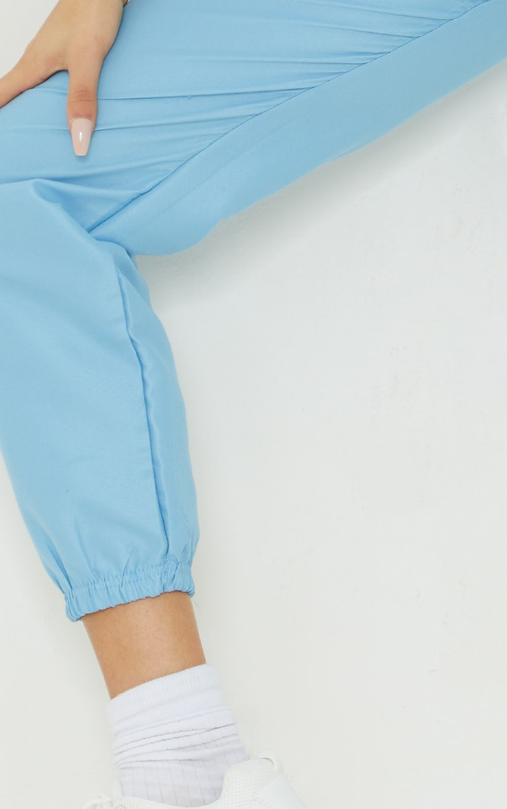 Ice Blue Peached Skin Joggers 4