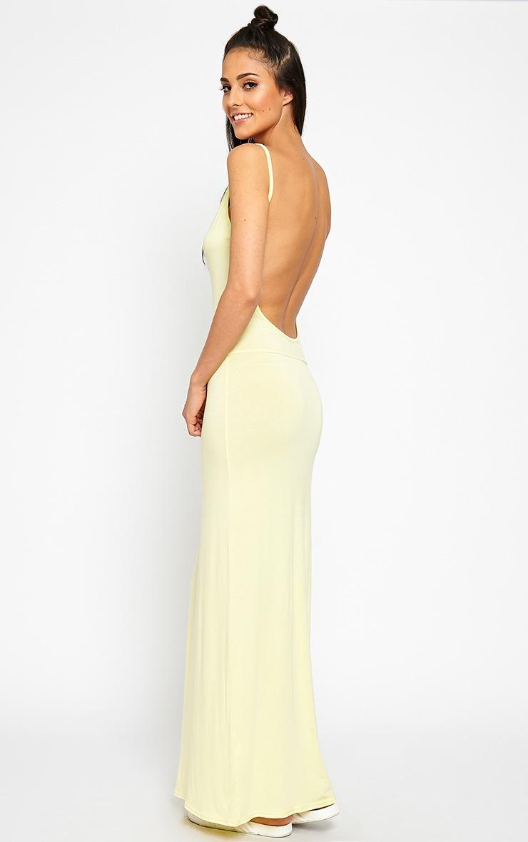 Ellina Lemon Scoop Back Jersey Maxi Dress 4