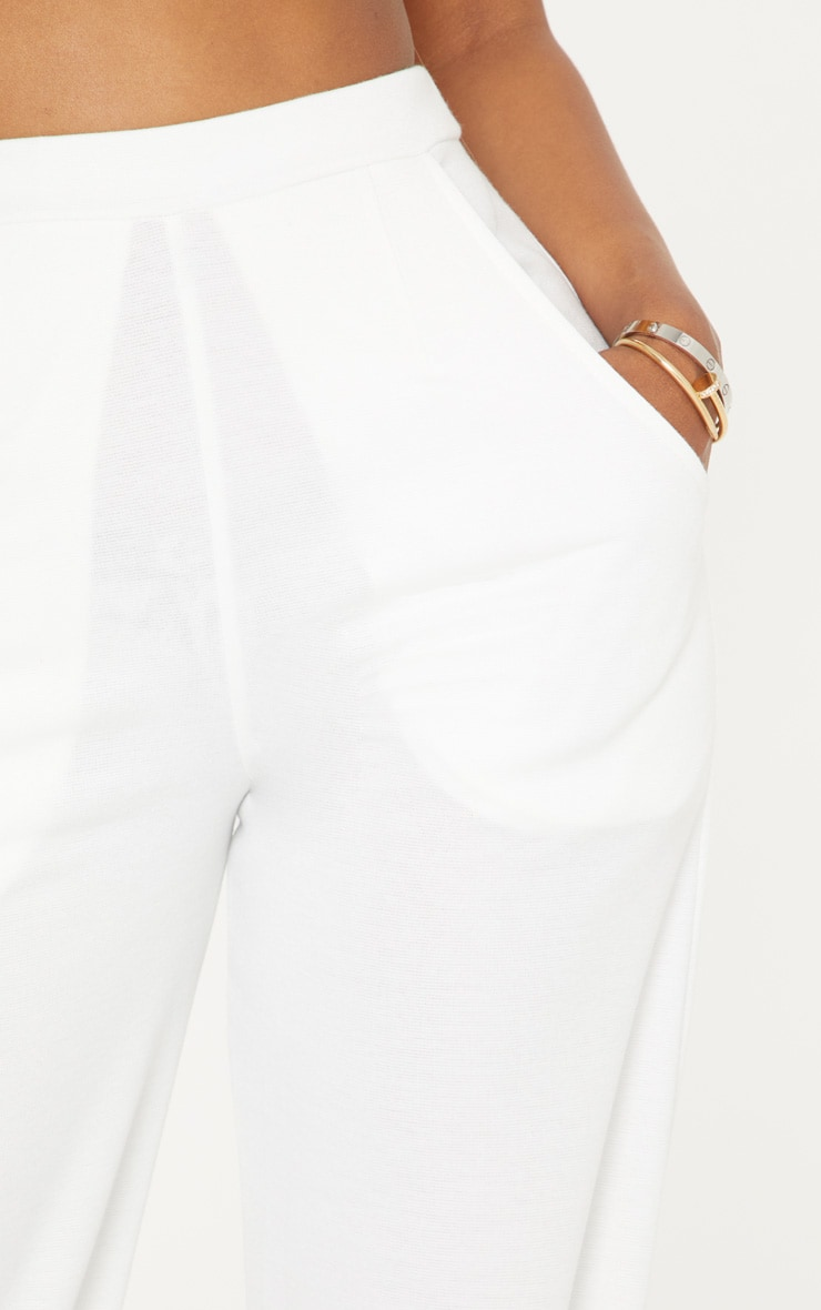 Shape White Wide Leg Trousers 5