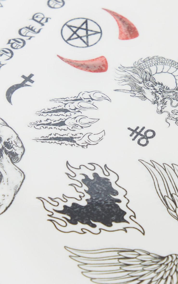 SHRINE Red Devil Transfer Tattoos 2