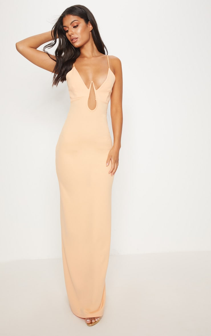 Tangerine V Bar Maxi Dress  1