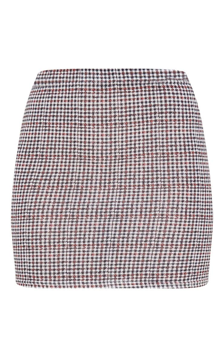 Mini-jupe rouille à carreaux 7