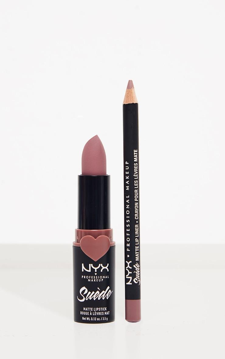 NYX Professional Makeup Disco Mix Lip Kits - Lavender & Lace Dusty Purple Matte Lip Christmas Gift Set 1