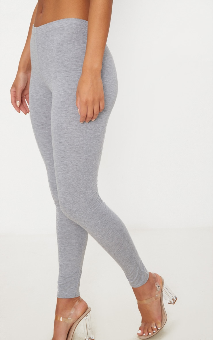 Basic Grey Jersey Leggings 5
