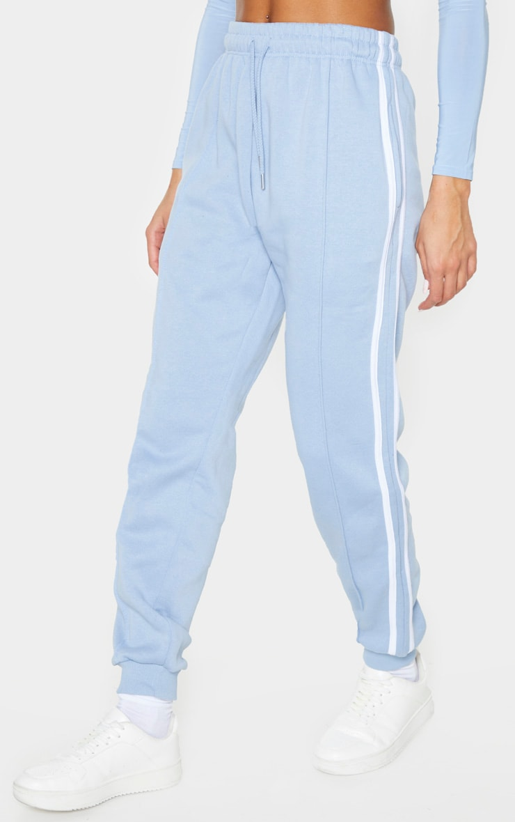 Blue Double Side Stripe Track Pants 2