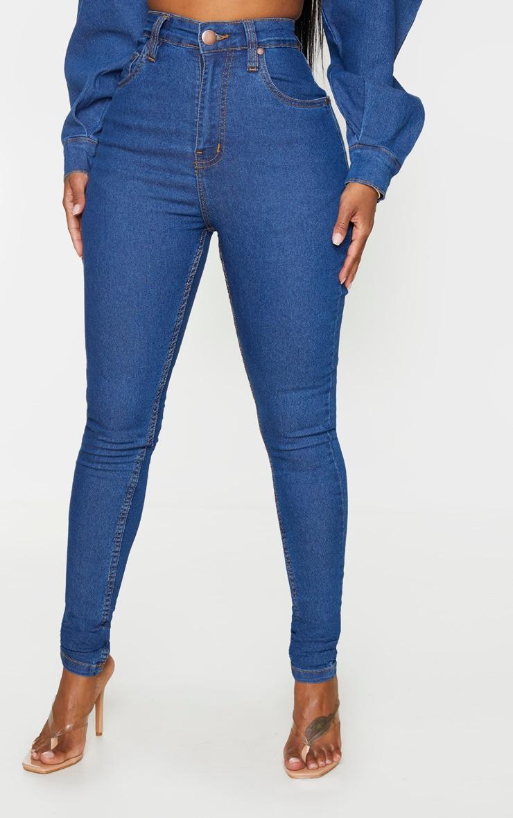 Shape Mid Blue Wash High Waist Skinny Jeans 2