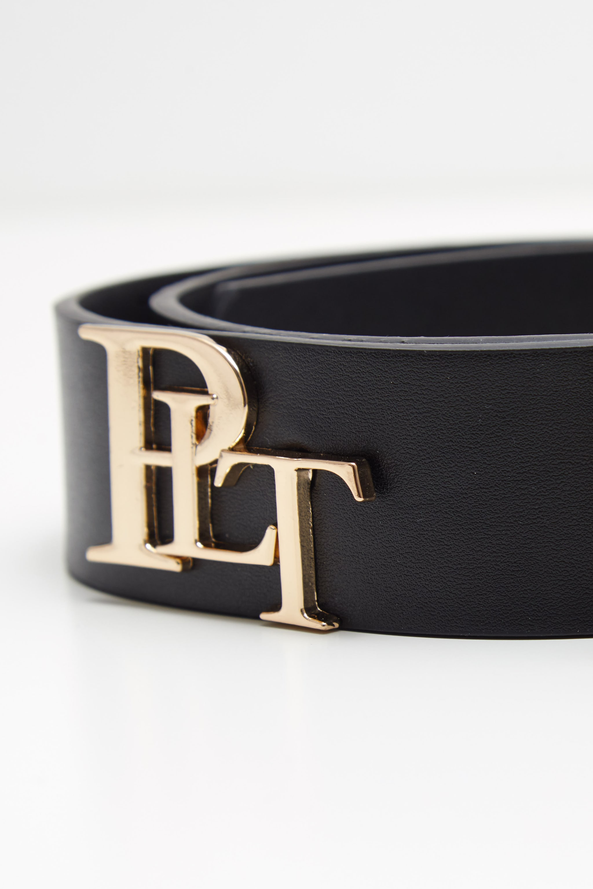 PRETTYLITTLETHING Logo Black Back Branded Buckle Belt 4