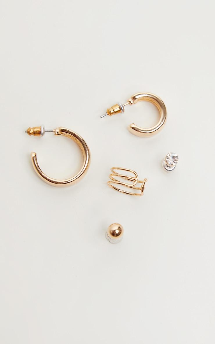 Gold Multi Pack Earrings 2