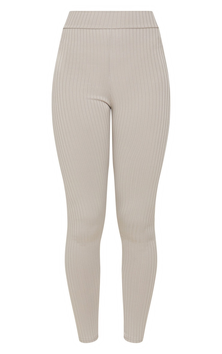 Harlie Grey Ribbed High Waisted Leggings 3