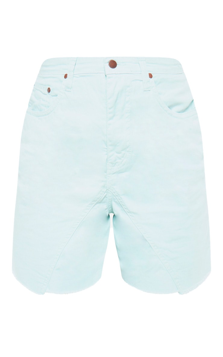 Mint Longline Denim Shorts 3