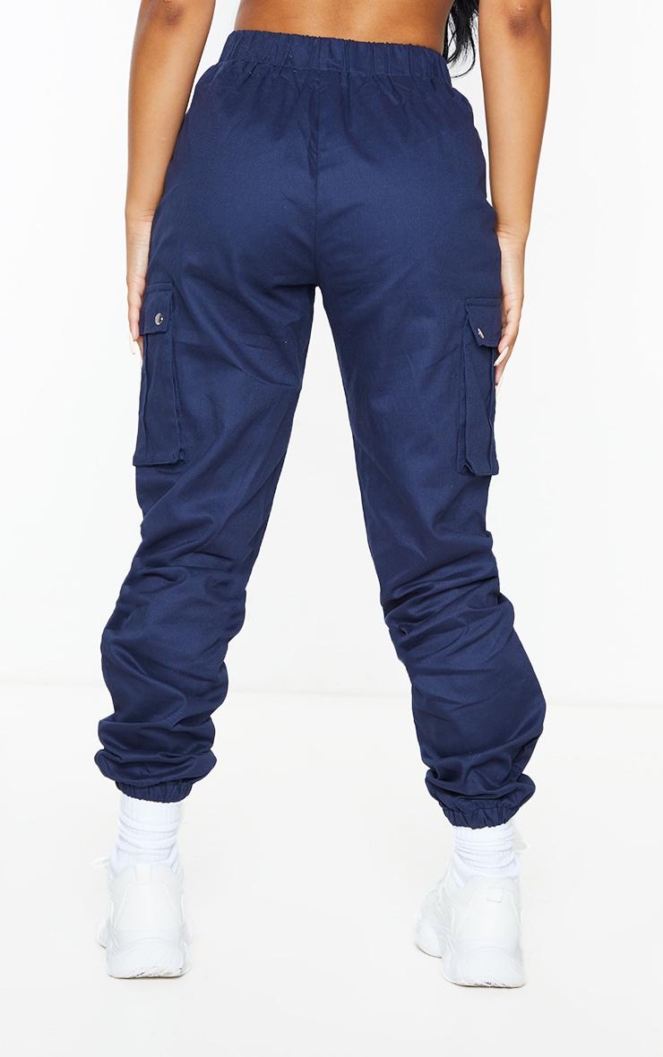 Petite Navy Pocket Detail Cargo Pants 3