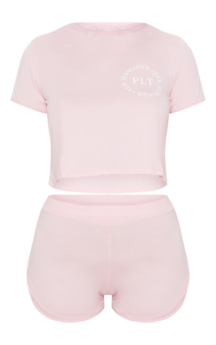 PRETTYLITTLETHING Pink Hangover Club Pj Set 3
