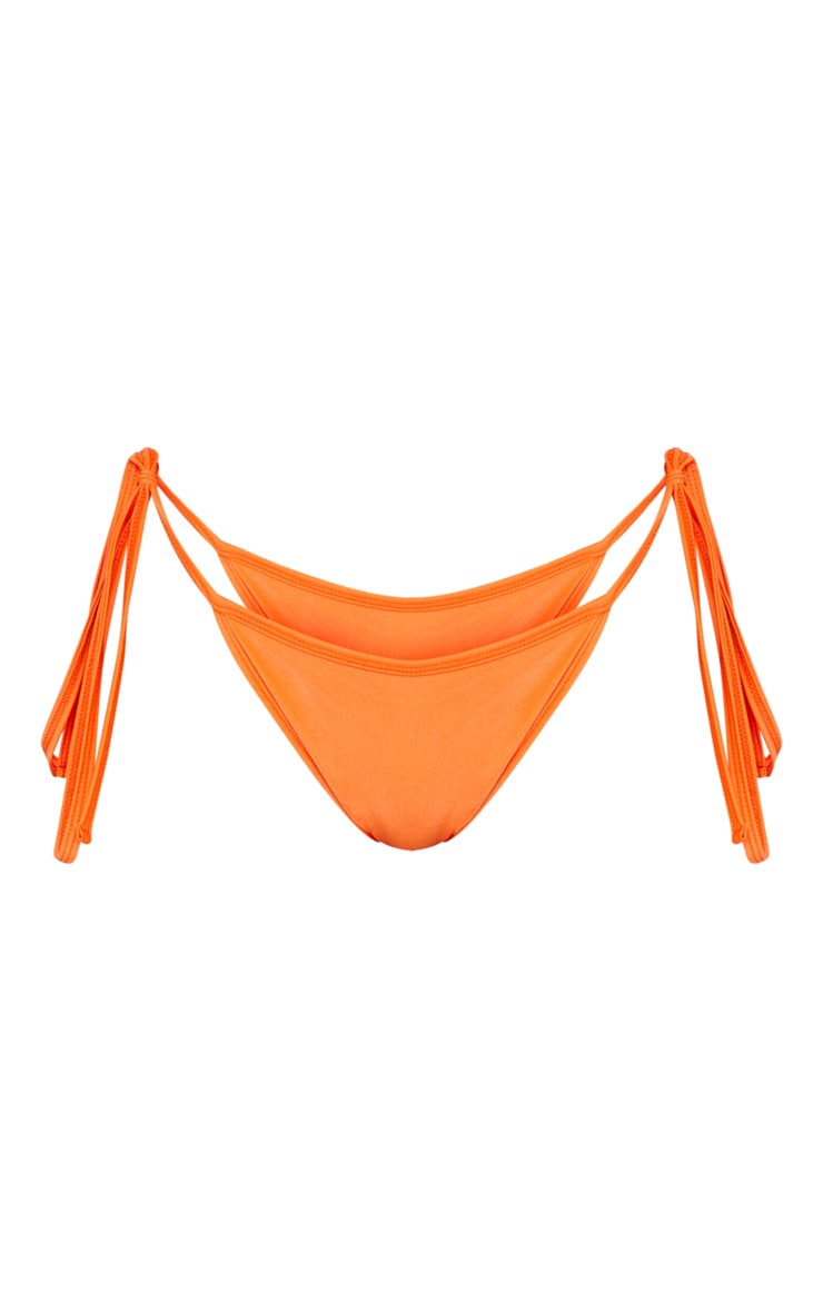 Orange Mix & Match Tie Side Bikini Bottom 7