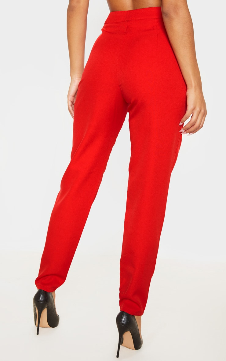 Red Tapered Trouser 4