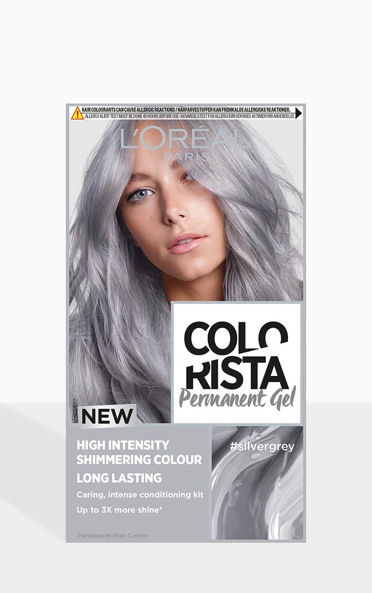 L'Oreal Colorista Silver Grey Hair Dye Long-Lasting Permanent Hair Colour 1