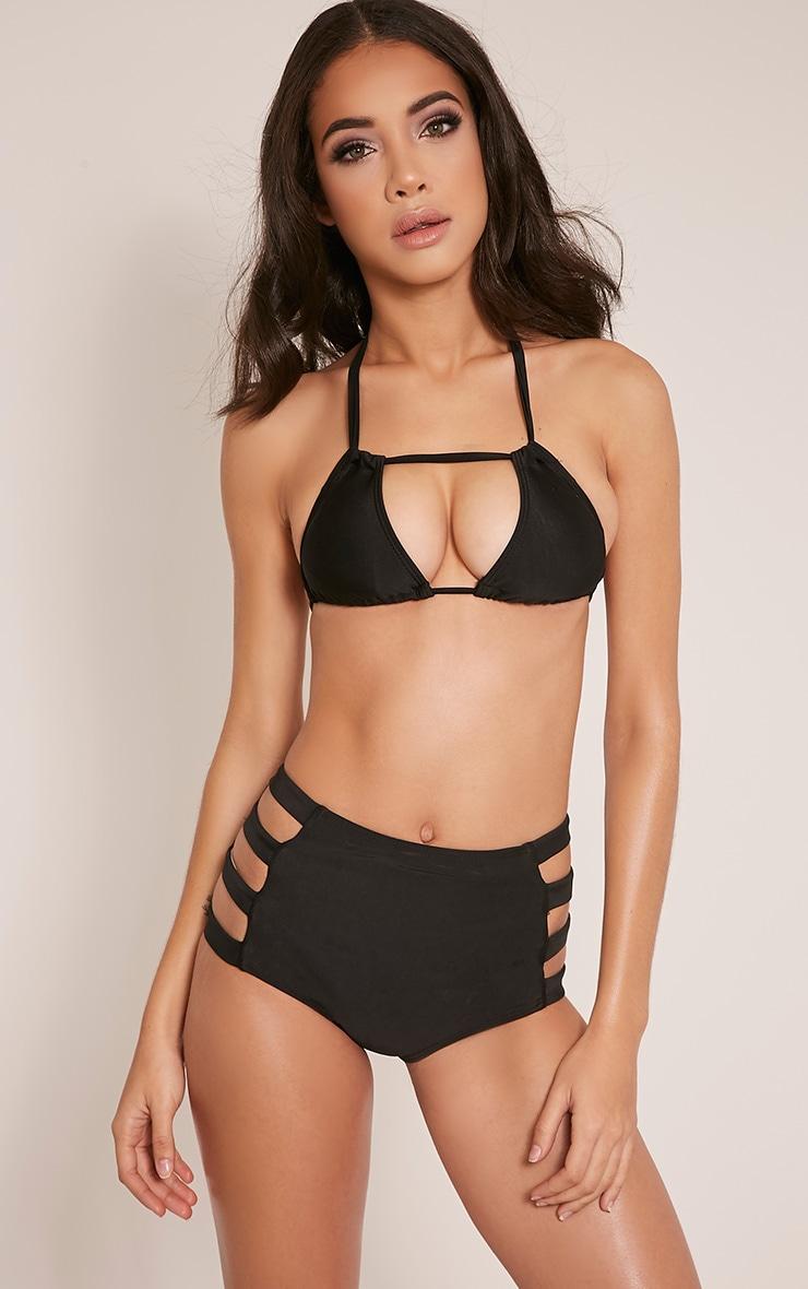 Mai Black High Waisted Cut Out Detail Bikini 1
