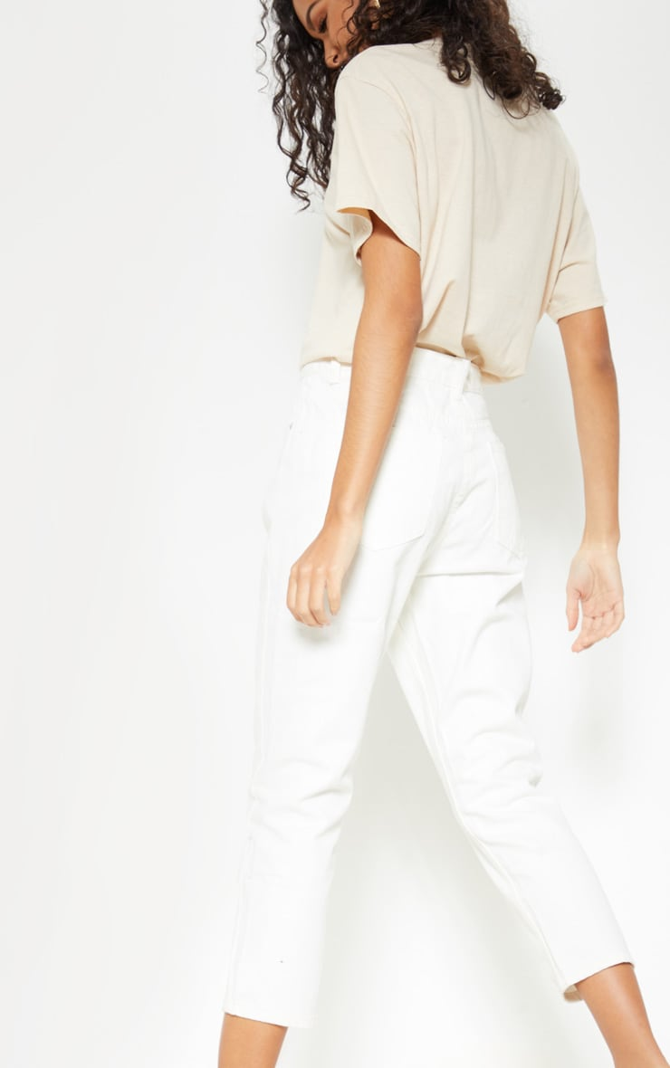 Cropped White Mom Jeans 5