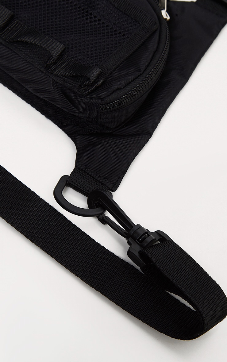 Black Nylon Mini Front Bag 4