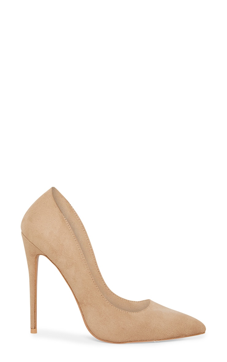 Nude High Faux Suede Court  3