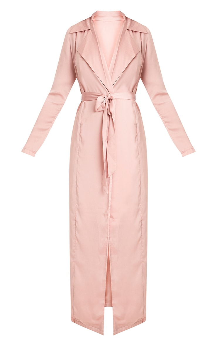 Briley Nude Satin Waterfall Duster Jacket 3