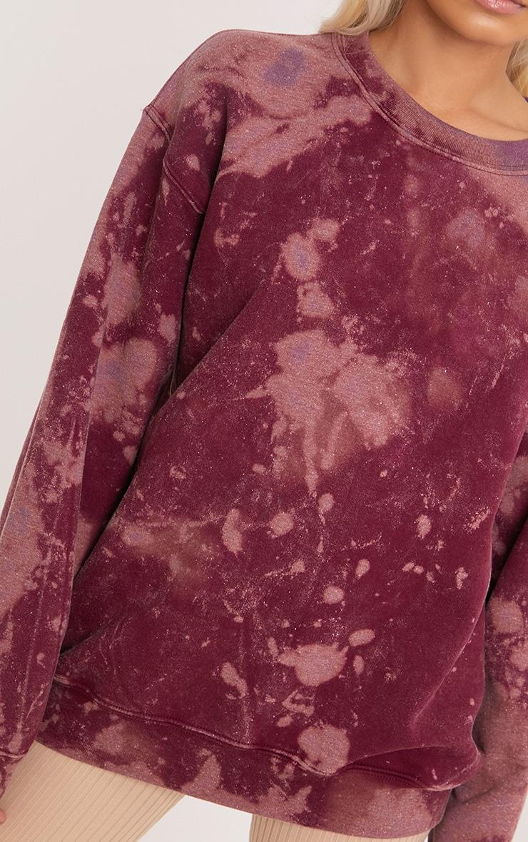 Wynta Burgundy Bleached Sweatshirt 5