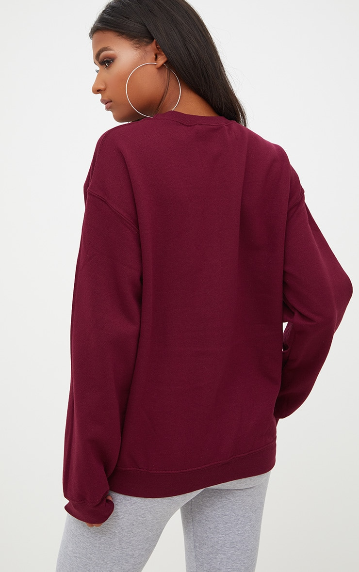 Maroon Ultimate Oversized Sweatshirt 2