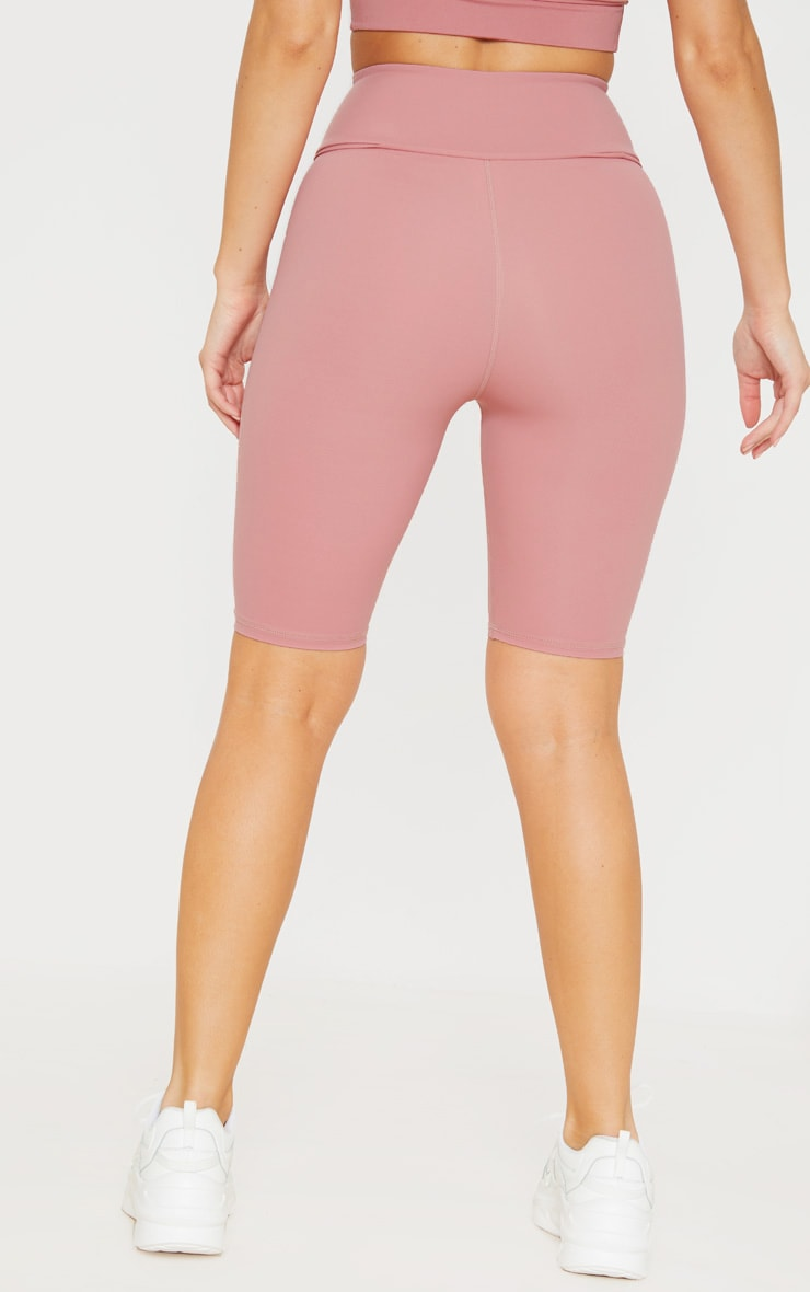 Dusty Pink High Waist Cycle Shorts 4