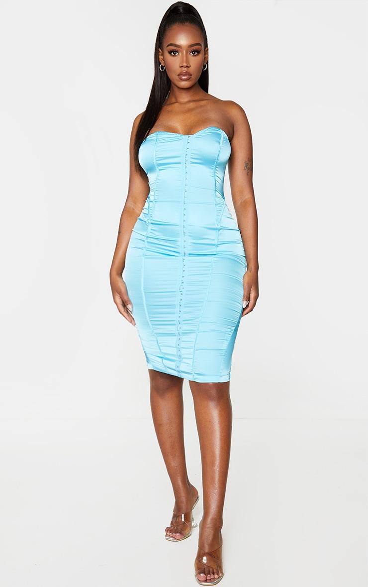 Shape Aqua Sweetheart Hook And Eye Midi Dress 1