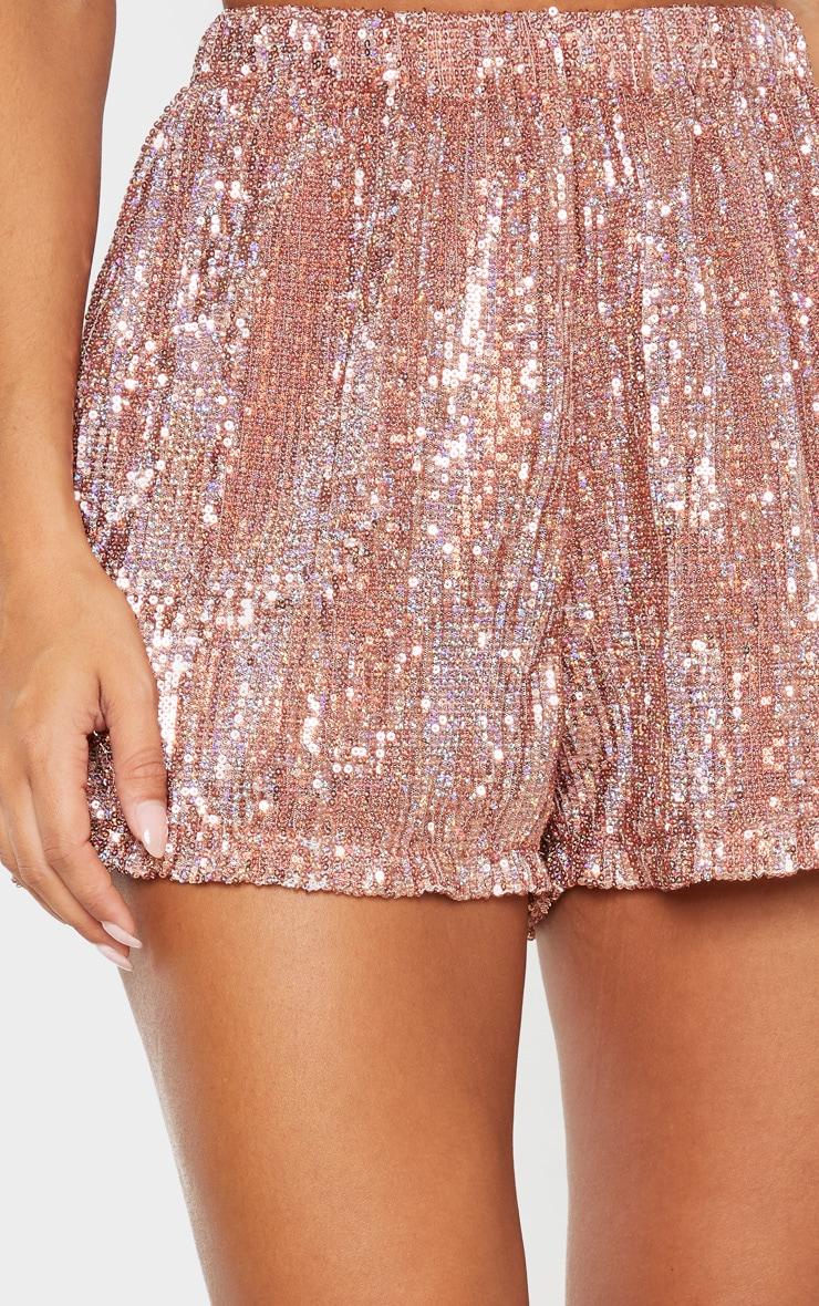 Rose Gold Sequin Shorts 6