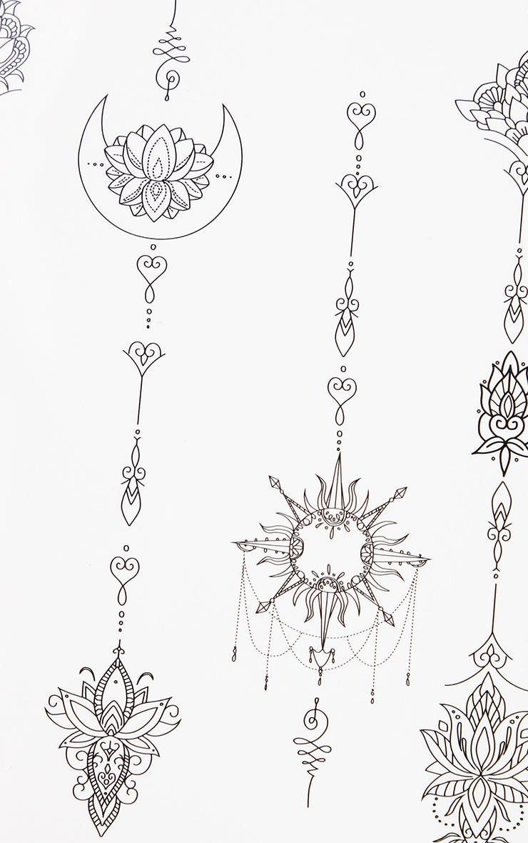 SHRINE Black Body Transfer Tattoos 2