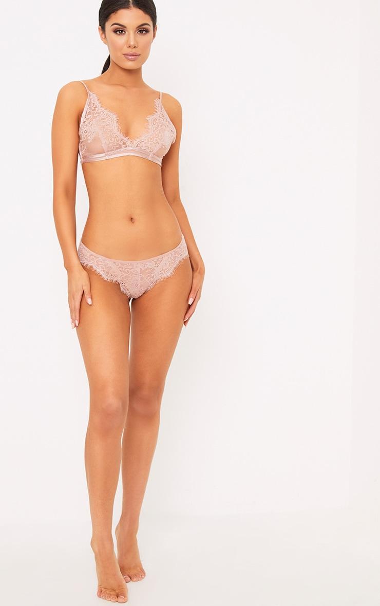 Wendy Blush Sheer Lace Soft Bra  4