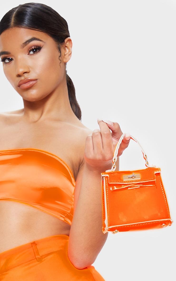 Neon Orange Micro Mini Bag 2