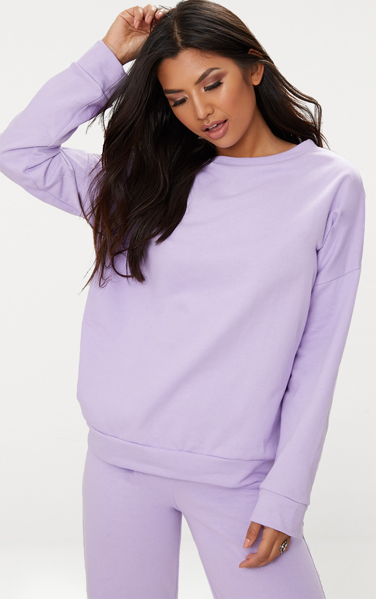 Lilac Oversized Sweater  1
