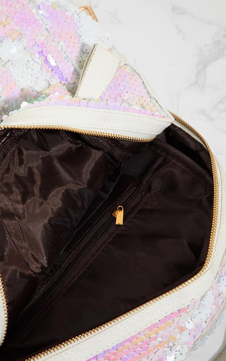 Iridescent Sequin Backpack 5