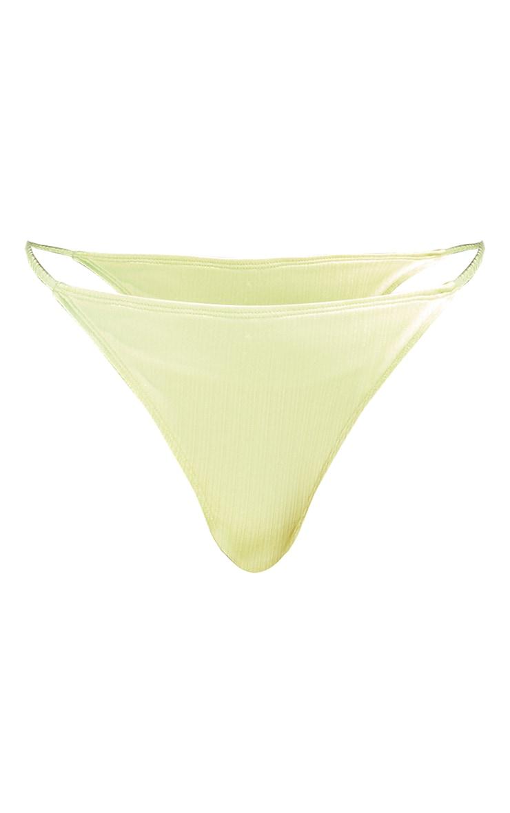 Lemon Shiny Thong Bikini Bottoms 5
