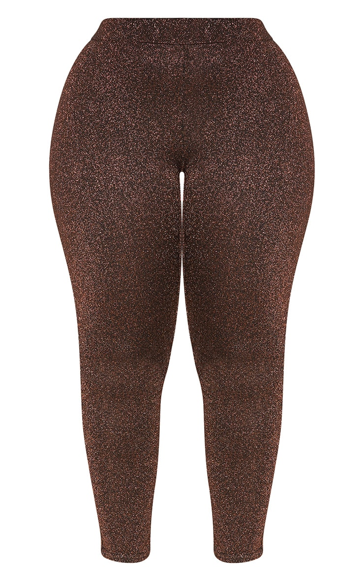 Bronze Metallic Straight Leg Pants 4