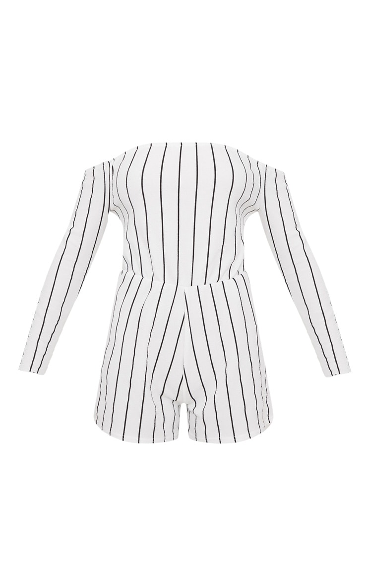Micah White Stripe Playsuit  3
