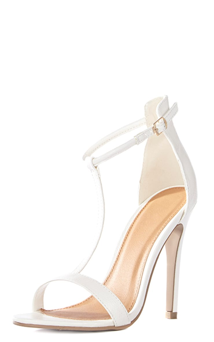 Jordan Cream Strappy T Bar Heeled Sandal 5