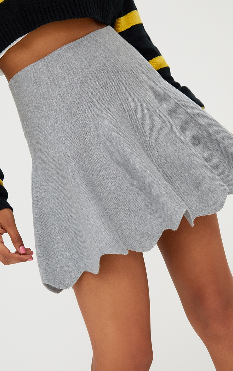 Grey Knitted A line Skirt 5