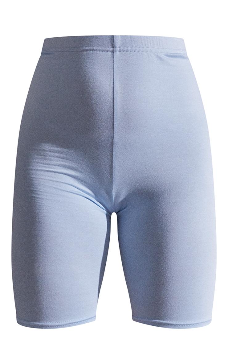 Light Blue Basic Cycle Shorts 6