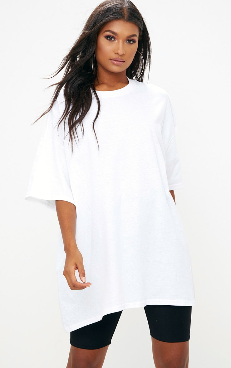 White Oversized Boyfriend T Shirt 1