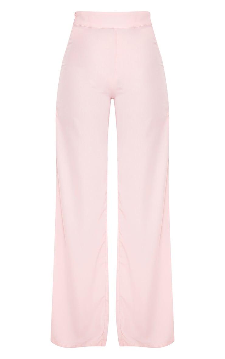 Elnie Baby Pink Wide Leg Suit Pants 3