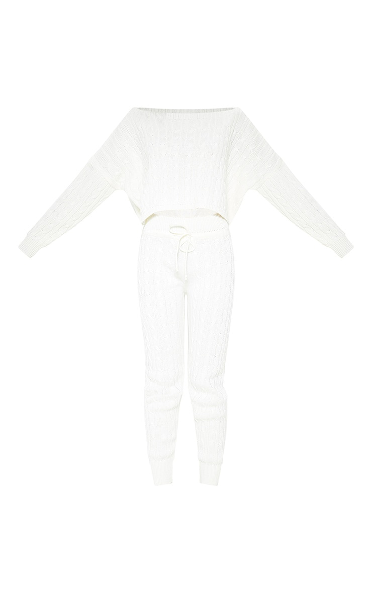 Cream Cable Knit Jumper & Legging Set 3