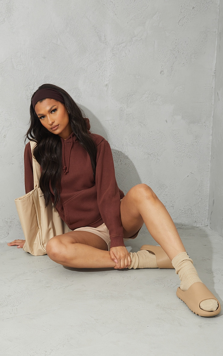 Chocolate Ultimate Oversized Washed Hoodie 3